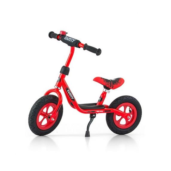 "Detské cykloodrážadlo bicykel Milly Mally Dusty red 10"""