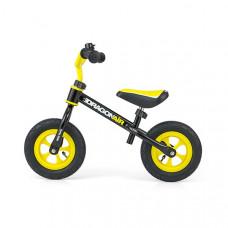 """Detské cykloodrážadlo Milly Mally Dragon AIR 10"""" -  žlto-čierne Preview"""