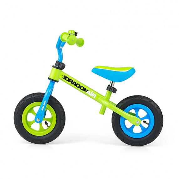 "Detské cykloodrážadlo Milly Mally Dragon AIR 10"" - modro-zelené"
