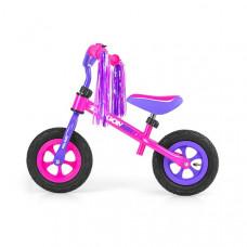 """Detské cykloodrážadlo Milly Mally Dragon AIR 10"""" - fialovo-ružové Preview"""