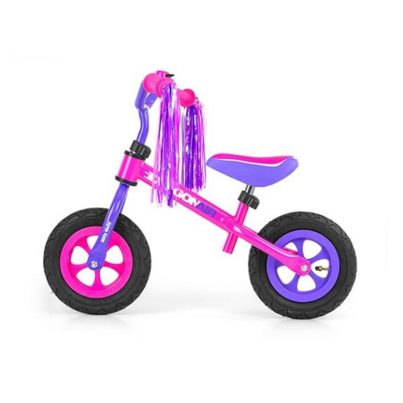 """Detské cykloodrážadlo Milly Mally Dragon AIR 10"""" - fialovo-ružové"""