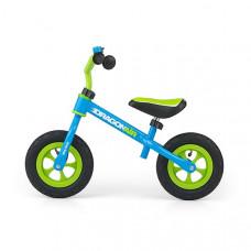 "Detské cykloodrážadlo Milly Mally Dragon AIR 10"" - zeleno-modré Preview"
