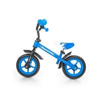 """Detské cykloodrážadlo Milly Mally Dragon s brzdou 10"""" - modré"""