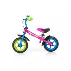 "Detské cykloodrážadlo Milly Mally Dragon s brzdou 10"" - multicolor Preview"