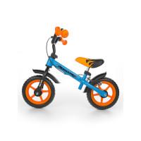 """Detské cykloodrážadlo Milly Mally Dragon s brzdou 10"""" - modro-oranžová"""