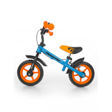 "Detské cykloodrážadlo Milly Mally Dragon s brzdou 10"" - modro-oranžová Preview"