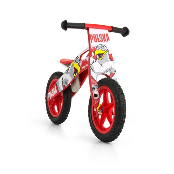 "Detské drevené cykloodrážadlo Milly Mally King Poland 12"""