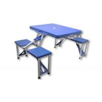 InGarden Skladací turistický stôl so stoličkami 131 x 52 cm