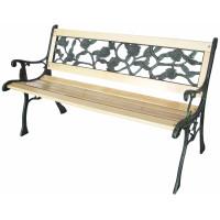 InGarden Záhradná lavička s kovaným designom 122 x 56 x 74 cm