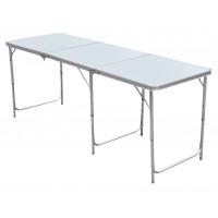 InGarden Skladací turistický stôl s nastaviteľnou výškou  - 180 cm