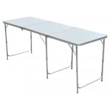 InGarden Skladací turistický stôl s nastaviteľnou výškou  - 180 cm Preview