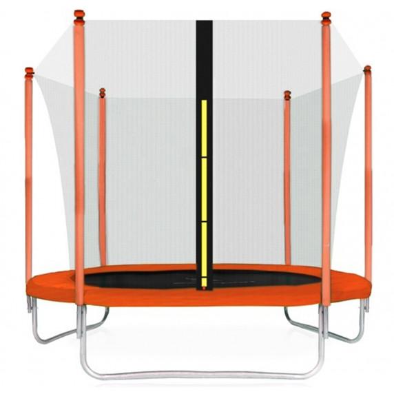 Trampolína AGA SPORT FIT 305 cm s vnútornou ochrannou sieťou orange