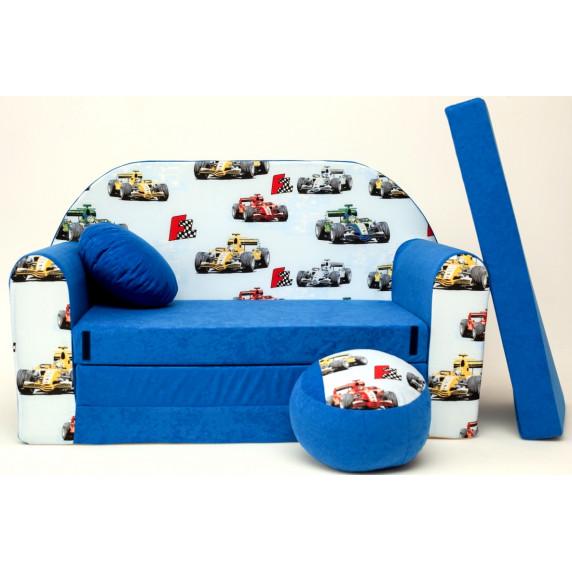 Detská pohovka Formule modrá
