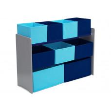 Organizér na hračky šedo-modrý Preview