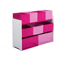 Organizér na hračky šedo - ružové