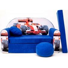 Detská pohovka Auto F1 modrá Preview
