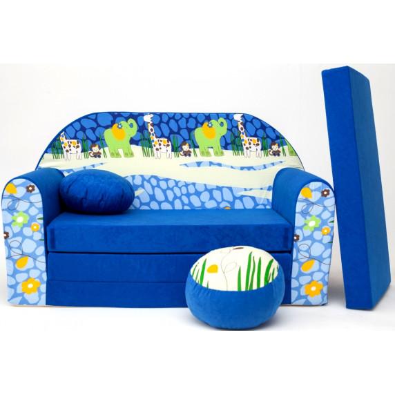 Detská pohovka Blue Jungle 2