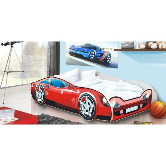 Detská posteľ Auto Speedy červená