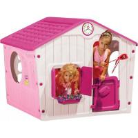Inlea4Fun Village ružový detský záhradný domček