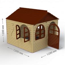 Inlea4Fun DANUT Záhradný domček 129x129x120 cm -  béžový Preview
