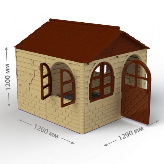 Inlea4Fun DANUT Záhradný domček 129x129x120 cm -  béžový