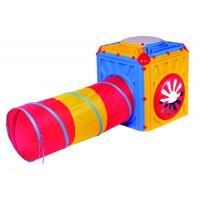 Inlea4Fun plastový domček s farebným tunelom