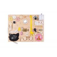 Edukačná tabuľa pre deti 50 x 37,5 cm MT07 - naturálna/žltá