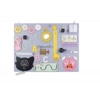 Edukačná tabuľa pre deti 50 x 37,5 cm MT08 - sivá/žltá