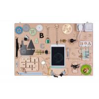 Edukačná tabuľa pre deti 75 x 50 cm - naturálna