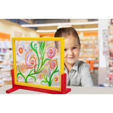 Inlea4Fun detská tabuľa na stôl s bezpečnostným sklom  Preview