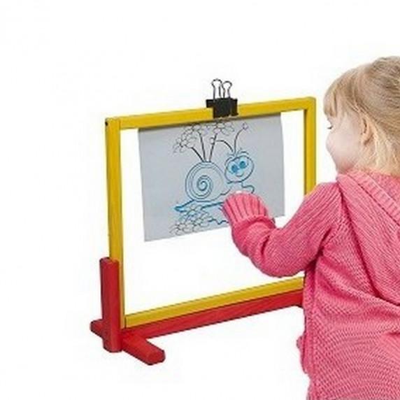 Inlea4Fun detská tabuľa na stôl s bezpečnostným sklom