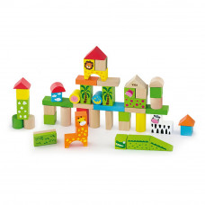 Drevené tvary v rôznych farbách Inlea4Fun 50 kusov - Zoo set Preview