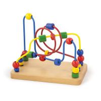 Inlea4Fun drevený labyrint s korálkami