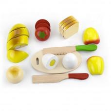 Inlea4Fun drevený raňajkový box s potravinami na krájanie Preview