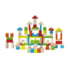 Inlea4Fun drevené farebné tvary 80 kusov Preview