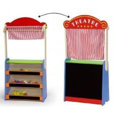 Inlea4Fun drevené bábkové divadlo a obchod s potravinami 2v1 Preview