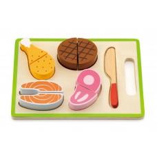 Inlea4Fun drevené mäso na krájanie s príslušenstvom - 50980 Preview