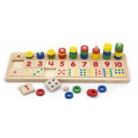 Inlea4Fun drevená matematická pomôcka s číslicami