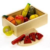 Inlea4Fun drevený box s ovocím na krájanie