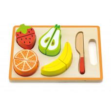 Inlea4Fun drevené ovocie na krájanie s príslušenstvom Preview
