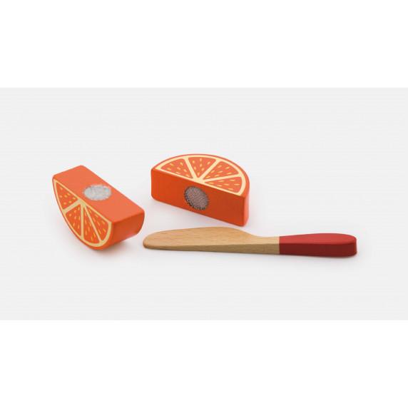 Inlea4Fun drevené ovocie na krájanie s príslušenstvom - 50978