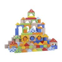 Inlea4Fun drevené farebné tvary 300 kusov