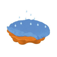 Inlea4Fun pieskovisko Margaréta s prikrývkou - oranžové