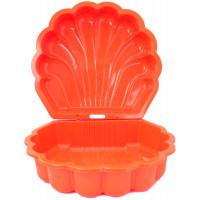 Inlea4Fun dvojstranné pieskovisko v tvare mušle - Oranžový