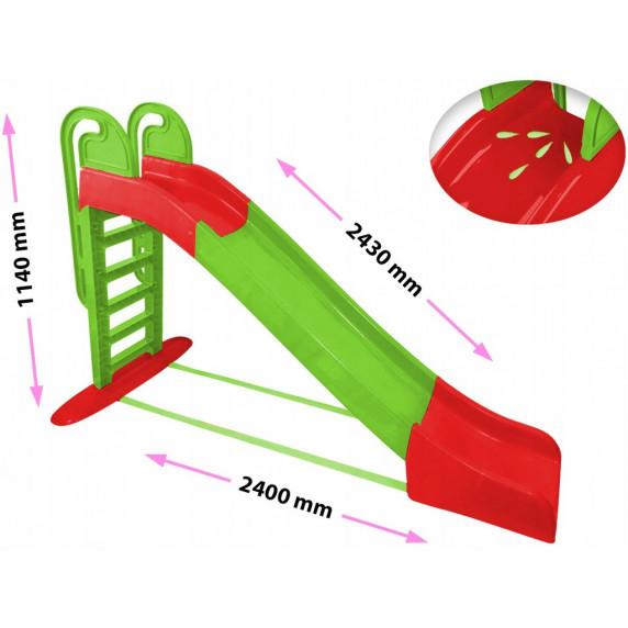 Inlea4Fun Vodná šmykľavka s držadlom - zelená