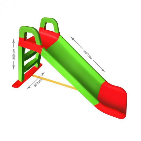 Šmykľavka s madlom 140 cm Inlea4Fun - zelená