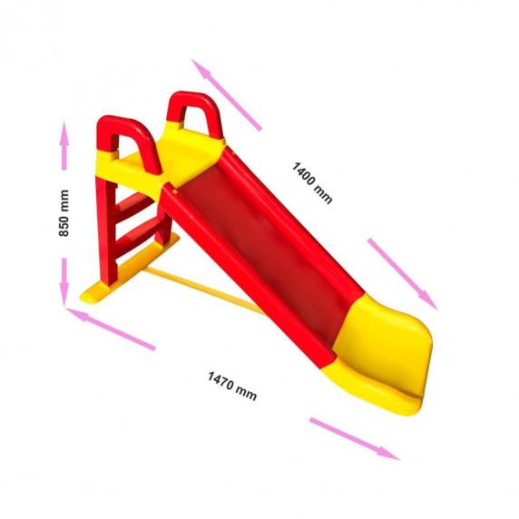 Šmykľavka s madlom 140 cm Inlea4Fun - červená