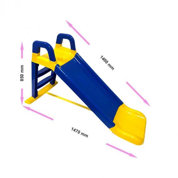 Šmykľavka s madlom 140 cm Inlea4Fun - modrá