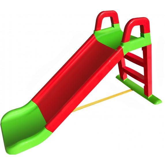 Inlea4Fun šmyklavka s madlom 140 cm - červená/ zelená