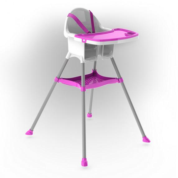 Inlea4Fun jedálenská stolička - ružová